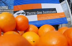 Charity initiative Oranges of the heart -Terre des Hommes